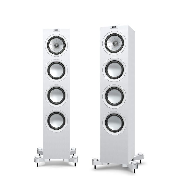 KEF Q550 Floorstanding loudspeaker for music and home theater in White.