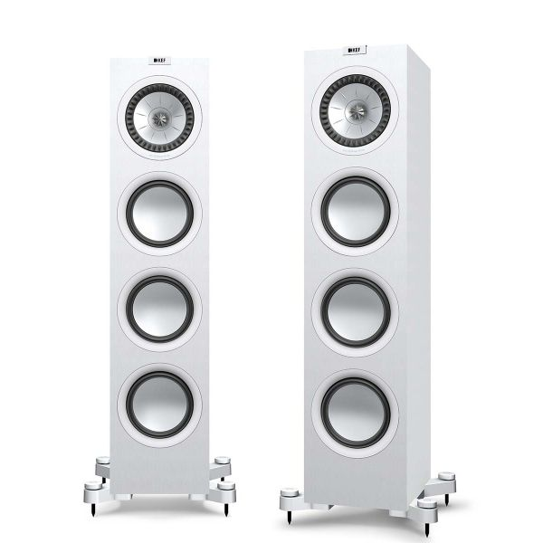 KEF Q750 Floorstanding loudspeaker for stereo music and home theater in White.