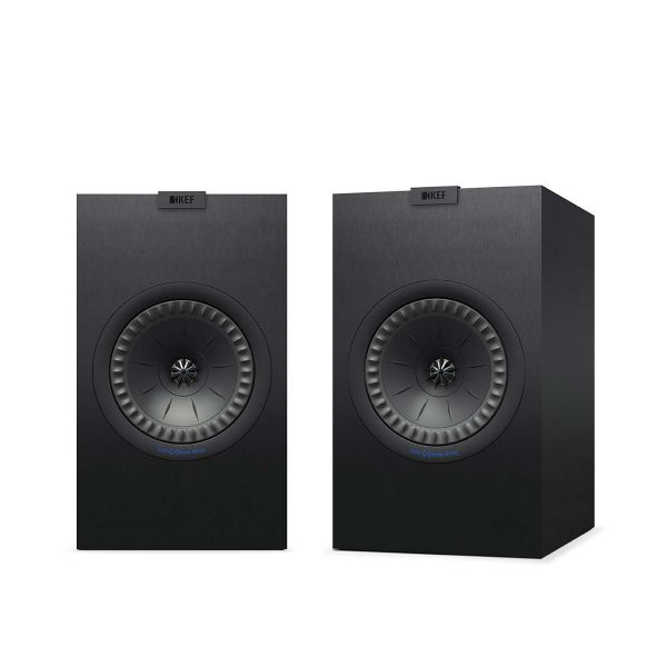 KEF Q350 Bookshelf loudspeaker, perfect for music or movies, in Black.