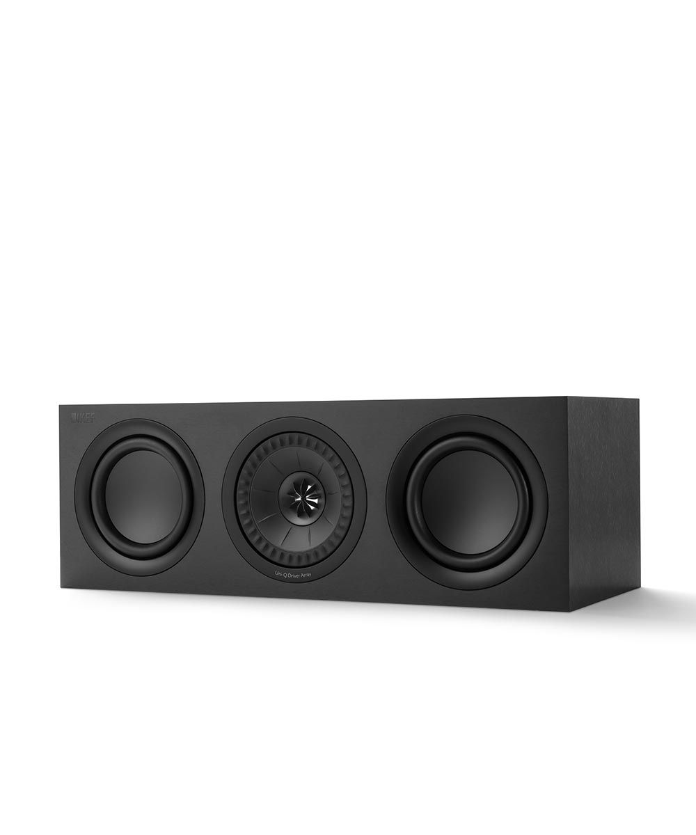 KEF Q650C Home Theater Center Channel Speaker in Black.