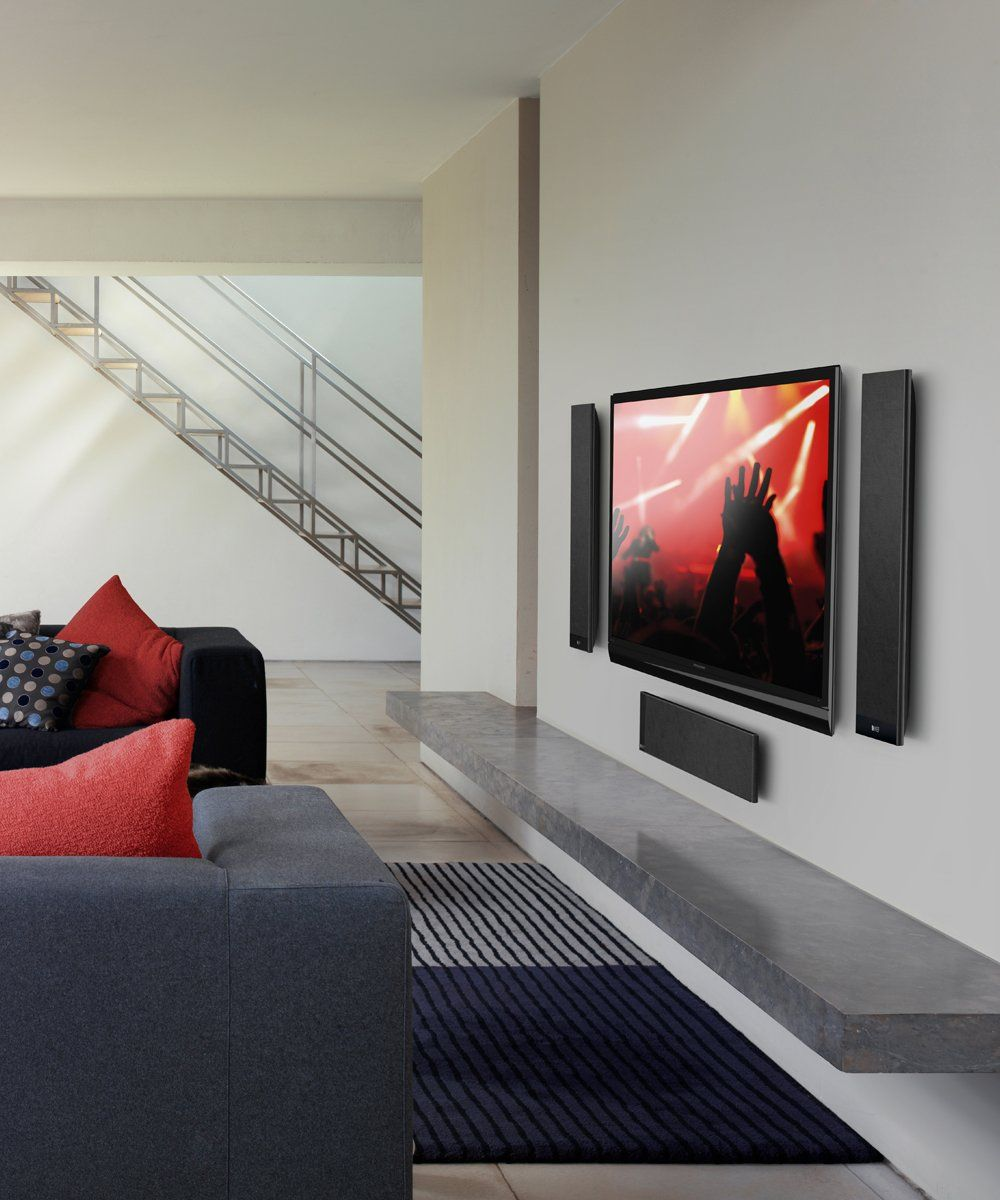 KEF T205 UltraThin Speaker System on Wall