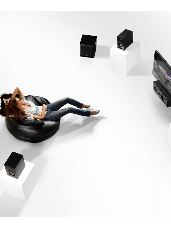 KEF C4 Subwoofer lifestyle shot