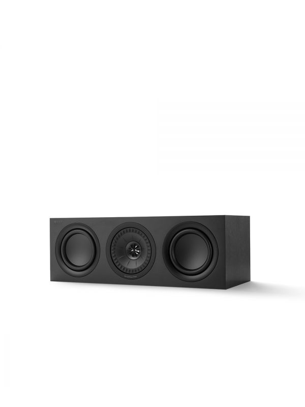 KEF Q SERIES Q250C Center Channel Speaker. Compact and versatile, use as a center channel or L/C/R configuration. Black Finish.