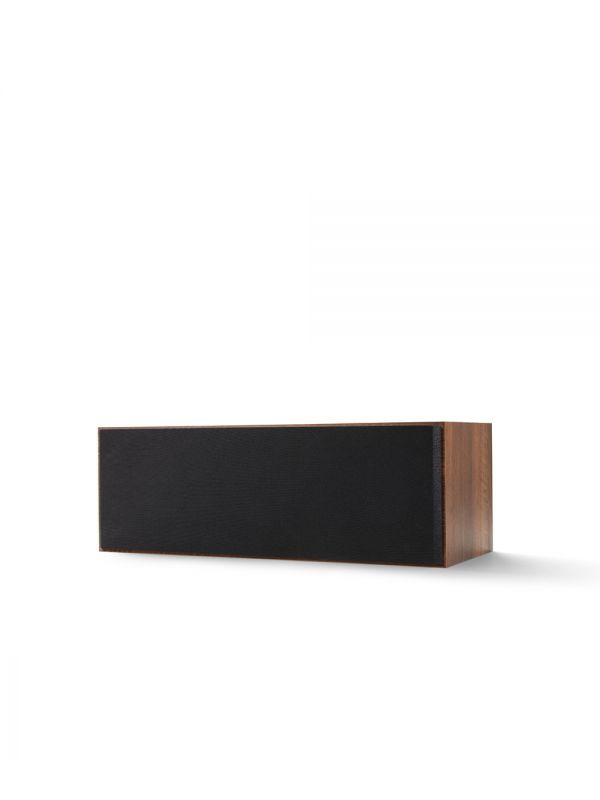 KEF Q SERIES Q250C Center Channel Speaker. Compact and versatile, use as a center channel or L/C/R configuration. Walnut Finish with Grille.