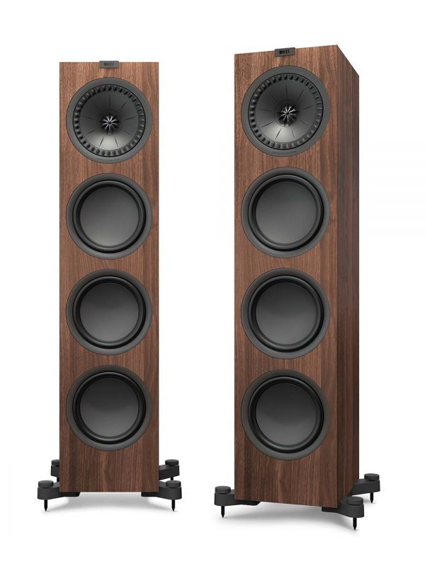KEF Q950 Floorstanding Loudspeaker for stereo and home theater in walnut.
