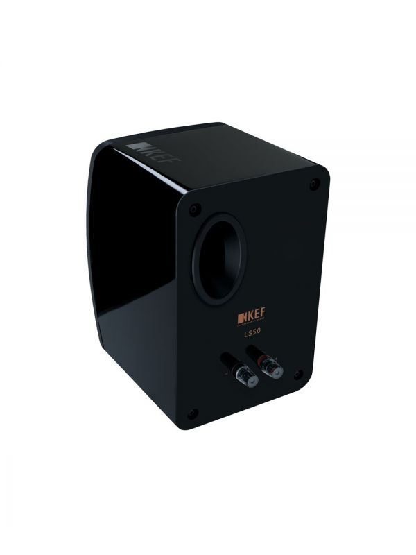 KEF LS50 Gloss Black rear view