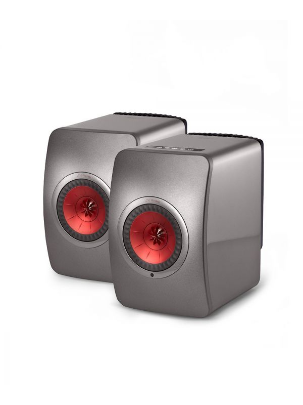 LS50 Wireless Powered Music System Grey / Red