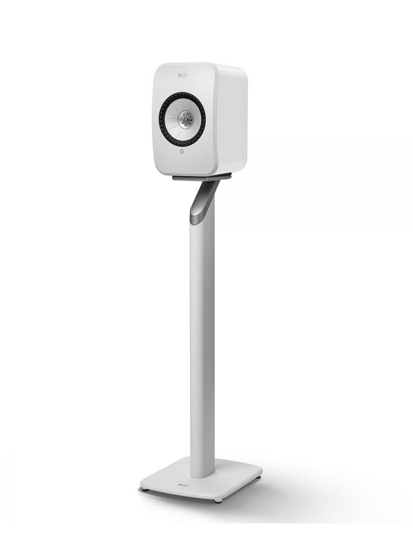 White KEF S1 Floorstand for LSX Wireless Speakers in White.