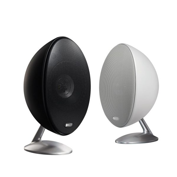 KEF E301 satellite speakers Matte Black and Matte White