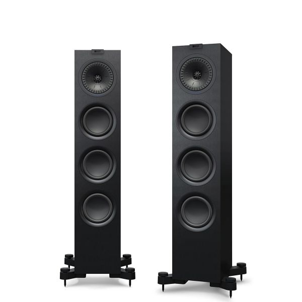 KEF Q550 Floorstanding loudspeaker for music and home theater in Black.