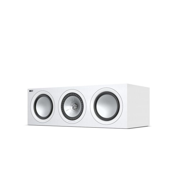 KEF Q650C Home Theater Center Channel Speaker in White.