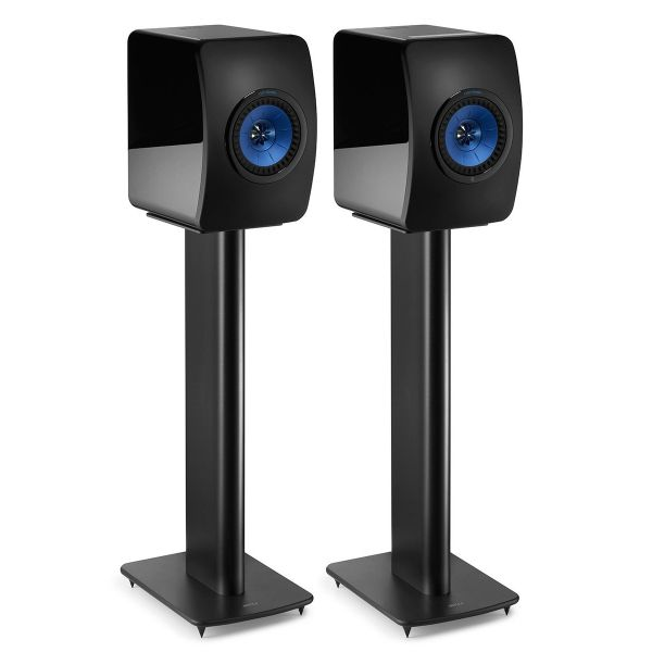 KEF Performance Speaker Stand Pair Black Front