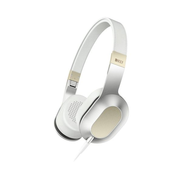 KEF M400 On-Ear Headphones Champagne White