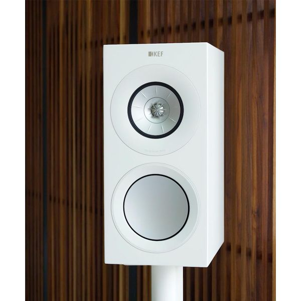 KEF R3 Gloss White HiFi bookshelf speaker modern furniture