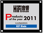 KEF BLADE Product of the year award 2011 HiFi Review