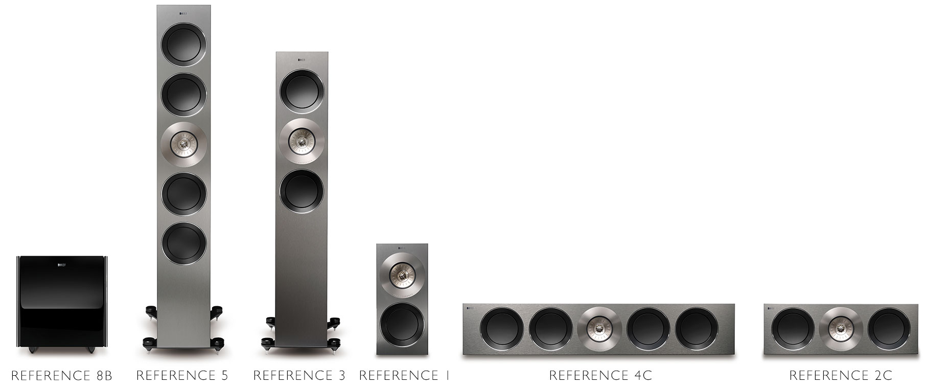 KEF REFERENCE Series family of speakers.